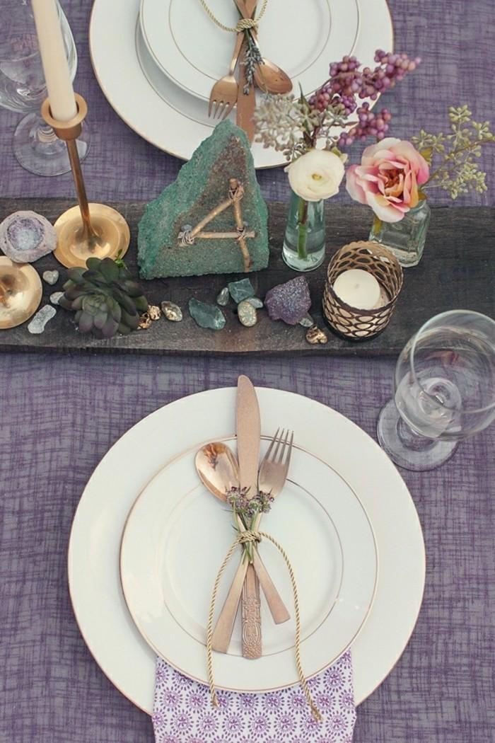 ausgefallene-Tischdeko-mit-kleinen-Elementen