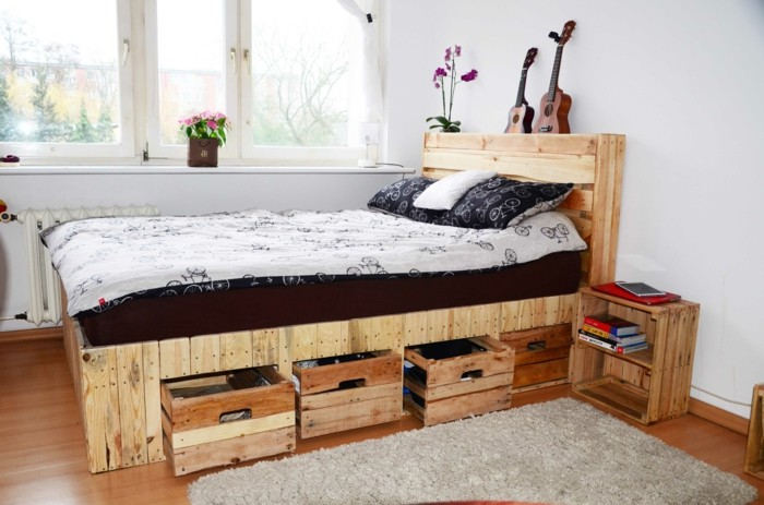 bett selber bauen ideen und bauanleitungen. Black Bedroom Furniture Sets. Home Design Ideas