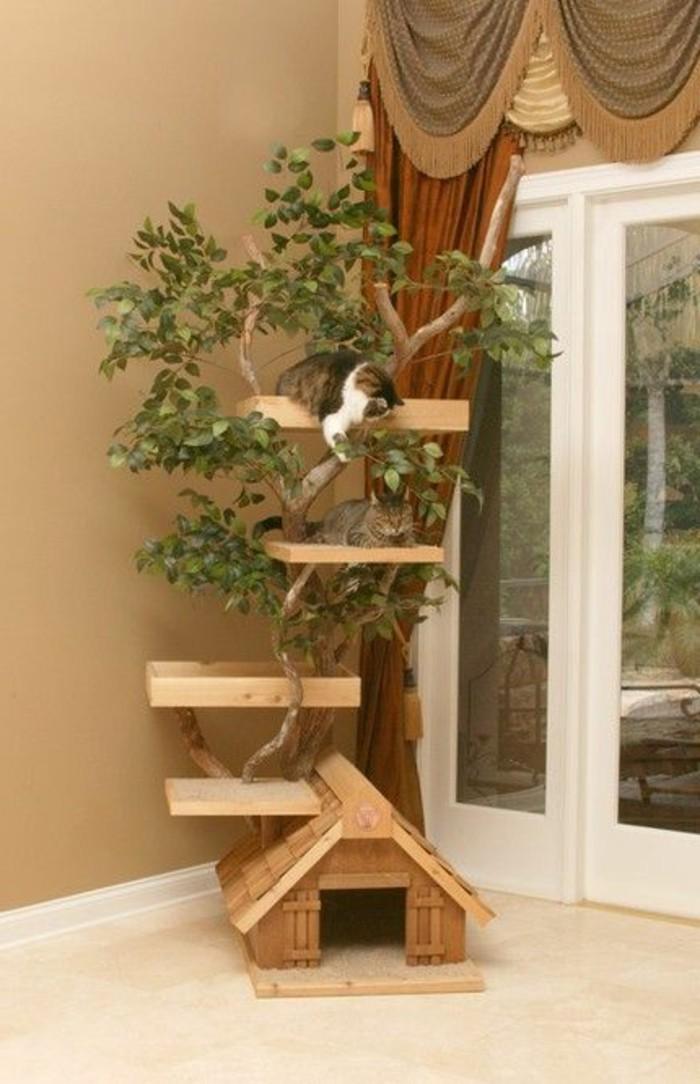 kratzbaum selber bauen holz