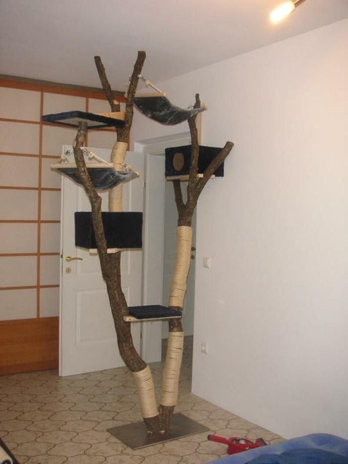 kratzbaum selber bauen 67 ideen und bauanleitungen. Black Bedroom Furniture Sets. Home Design Ideas