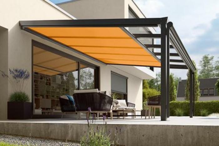 Pergola markise exklusive beispiele und hersteller for Markise balkon mit tapeten wohnzimmer modern grau
