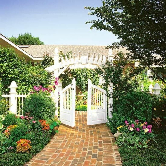 pergola-Gartentor-schöner-garten