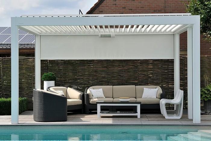 pergola markise exklusive beispiele und hersteller. Black Bedroom Furniture Sets. Home Design Ideas