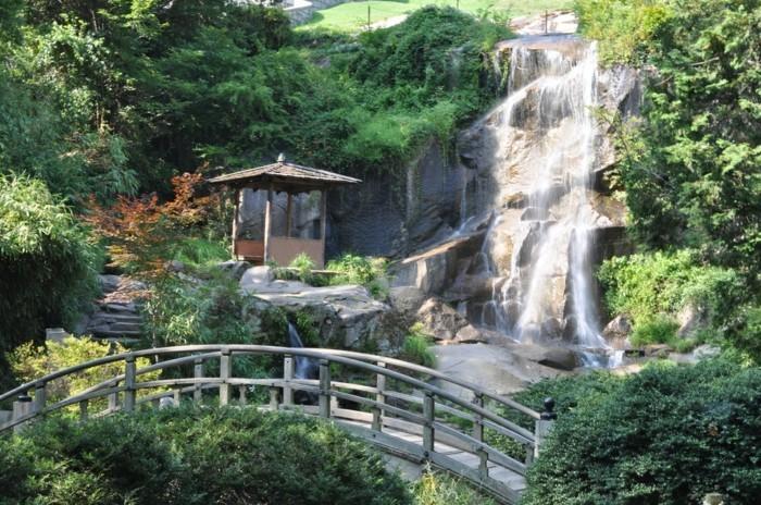 Wasserfall Im Garten Eine Idee Für Garen Wasserfall