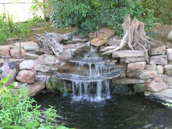 wasserfall im garten - mehr als 70 ideen! - archzine.net - Mini Wasserfall Garten