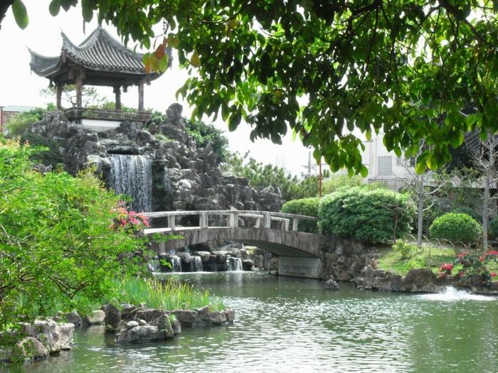 Wasserfall Im Garten Wasserfall Garten