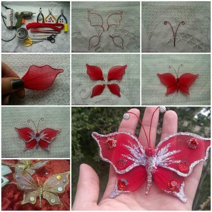 Bastelanleitung-Schmetterling-rot-und-silber