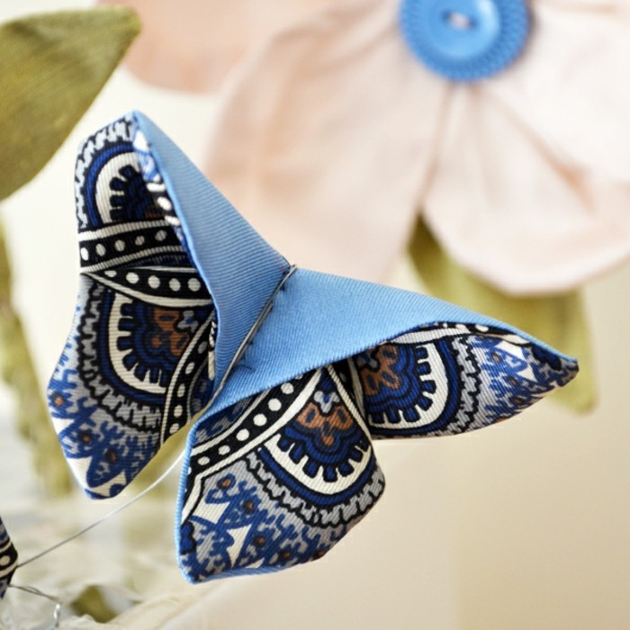 Basteln-mit-Kindern-Frühling-Origami-Schmetterling