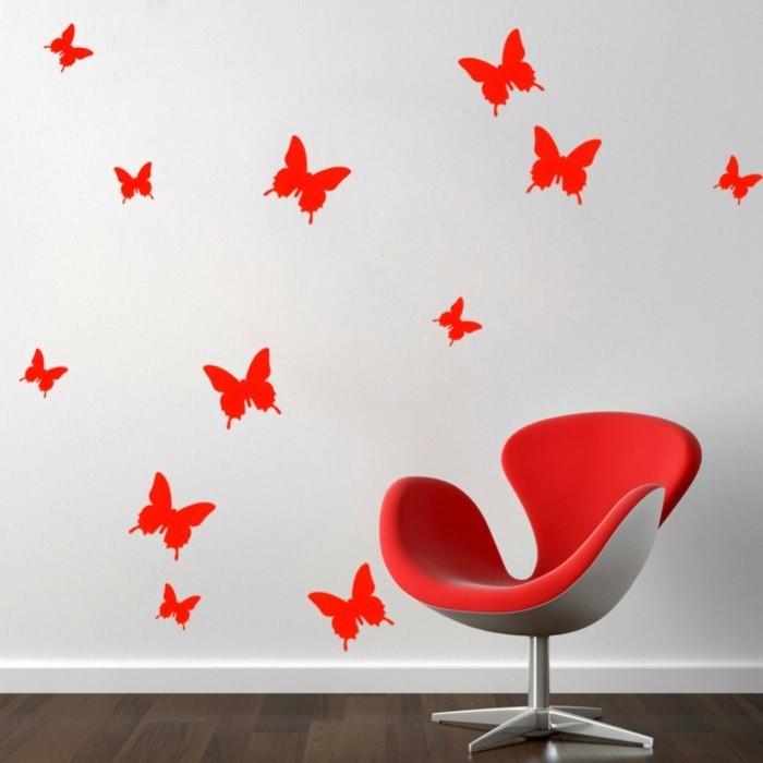 Basteln-mit-Kindern-Frühling-Schmetterling-Wandtattoo