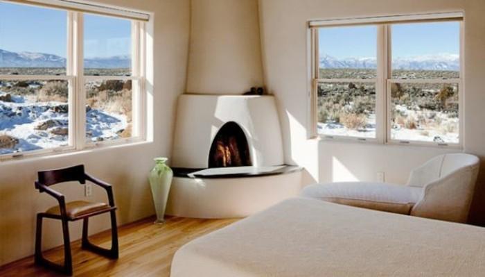 Bodenvasen-Glas-in-einem-schönen-Haus