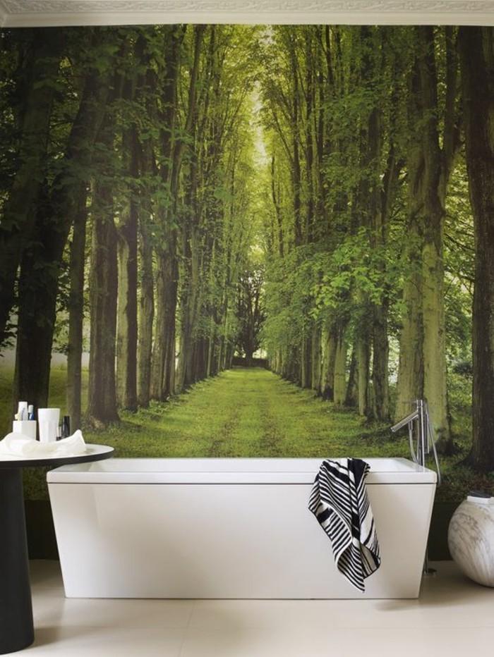Deko-Badezimmer-eine-schöne-Allee