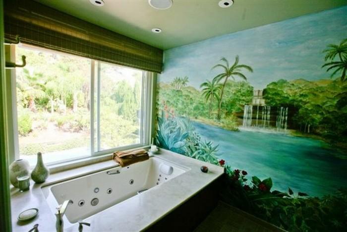 deko badezimmer mit exotischer insel - Weises Badezimmer Verschonern