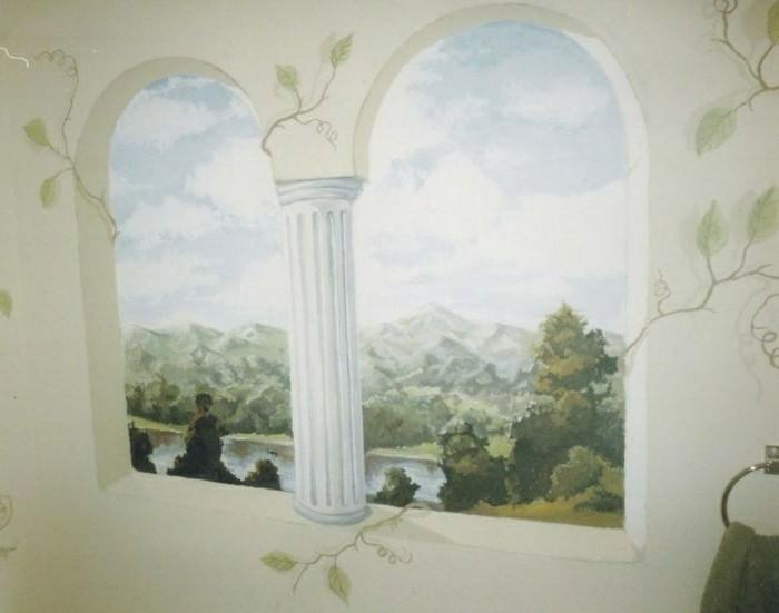 Deko-Badezimmer-wie-ein-weißes-Barock-Fenster