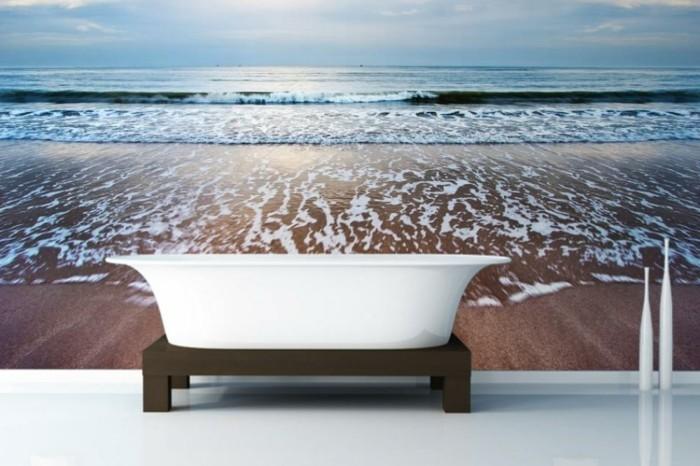 Wandtattoo badezimmer f r gem tliches ambiente Badezimmer dekoration meer