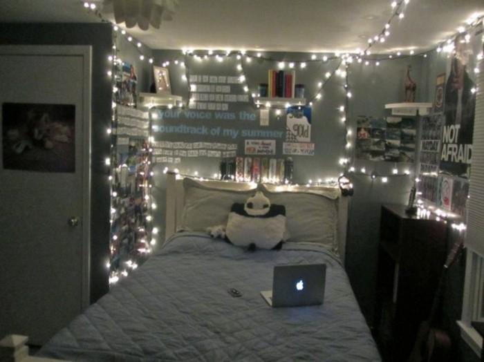 deko basteln mit lichterketten und aufschriften - Schlafzimmer Dekoration Basteln