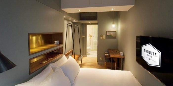 Dekoration-Zimmer-in-einem-Hotel