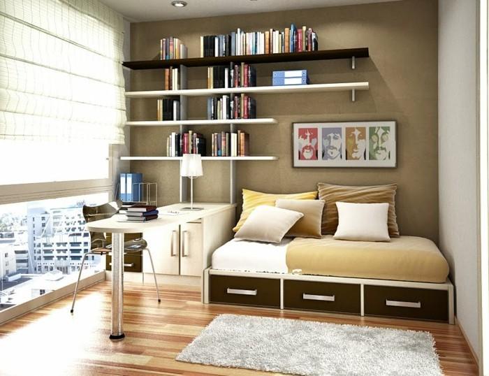 Einrichtungsideen-kleine-Räume-mit-Bücherregal