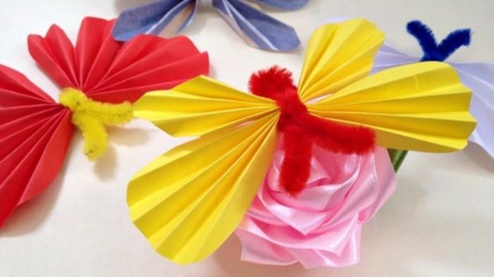 Faltanleitung-Schmetterling-und-rosa-Rose