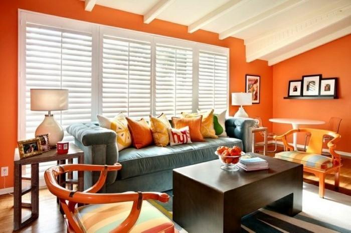 Farben-für-Wohnzimmer-in-Orange-Ein-außergewöhnliches-Design