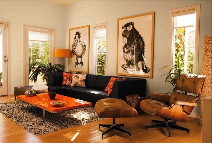 Farben-für-Wohnzimmer-in-Orange-Ein-cooles-Design