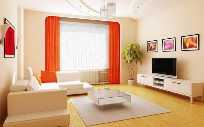 Farben-für-Wohnzimmer-in-Orange-Ein-modernes-Design