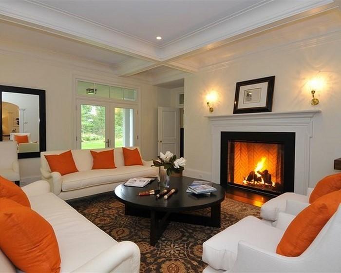 Farben-für-Wohnzimmer-in-Orange-Ein-modernes-Interieur