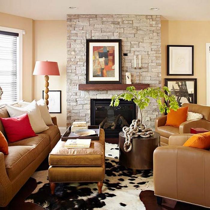 Farben-für-Wohnzimmer-in-Orange-Ein-tolles-Interieur
