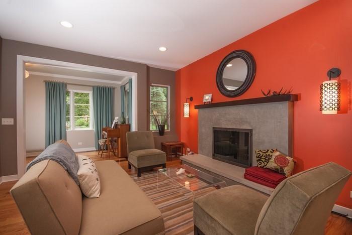 Farben-für-Wohnzimmer-in-Orange-Ein-verblüffendes-Design
