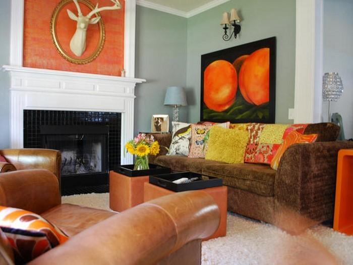 Farben-für-Wohnzimmer-in-Orange-Ein-wunderschönes-Interieur