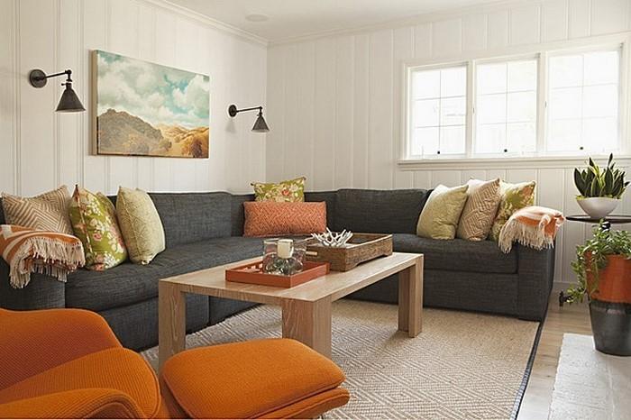 Farben-für-Wohnzimmer-in-Orange-Eine-außergewöhnliche-Ausstattung