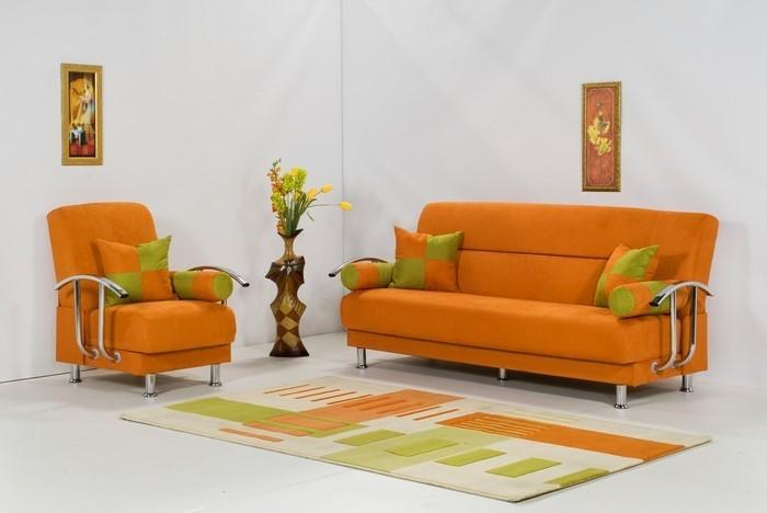 Farben-für-Wohnzimmer-in-Orange-Eine-außergewöhnliche-Dekoration