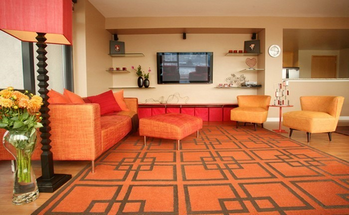 Farben-für-Wohnzimmer-in-Orange-Eine-außergewöhnliche-Entscheidung