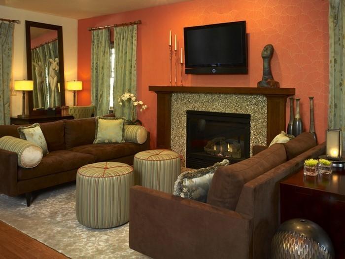 Farben-für-Wohnzimmer-in-Orange-Eine-außergewöhnliche-Gestaltung