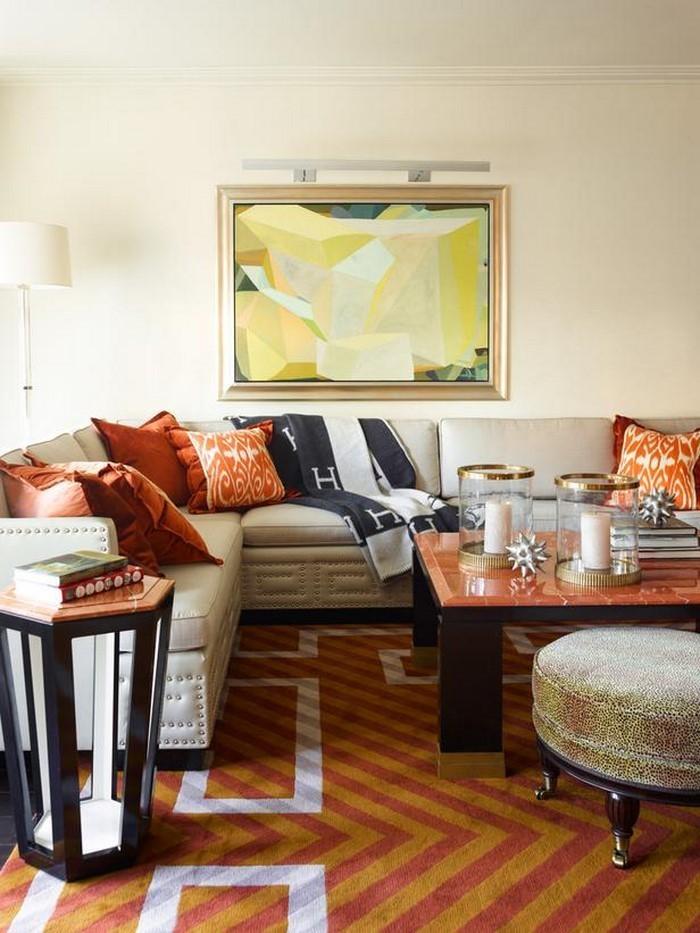 Farben-für-Wohnzimmer-in-Orange-Eine-auffällige-Atmosphäre