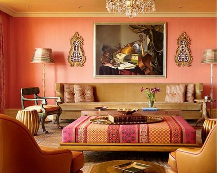 Farben-für-Wohnzimmer-in-Orange-Eine-auffällige-Ausstrahlung