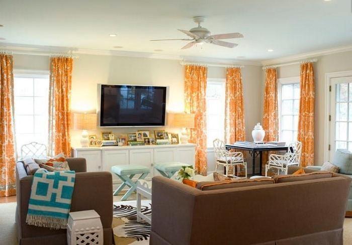 Farben-für-Wohnzimmer-in-Orange-Eine-auffällige-Gestaltung