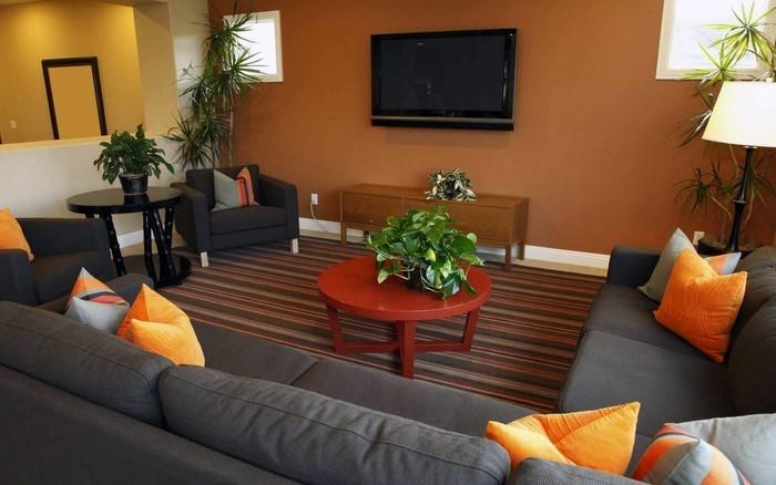 Farben-für-Wohnzimmer-in-Orange-Eine-coole-Ausstattung