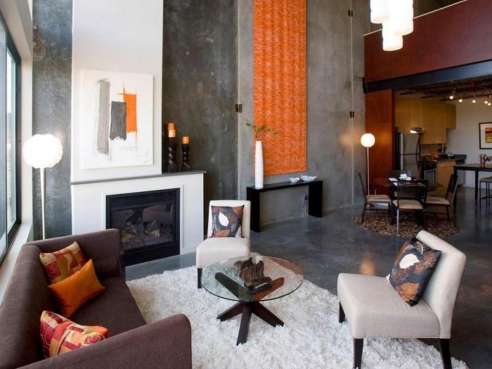 Farben-für-Wohnzimmer-in-Orange-Eine-coole-Ausstrahlung