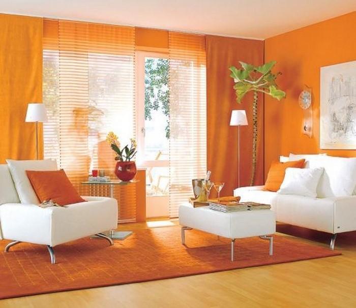 Farben Für Wohnzimmer In Orange: 80 Wohnideen