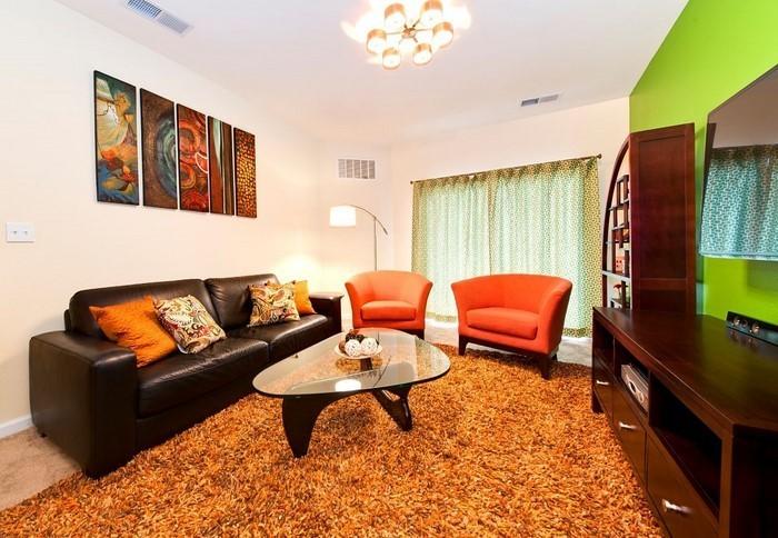 Farben-für-Wohnzimmer-in-Orange-Eine-coole-Gestaltung