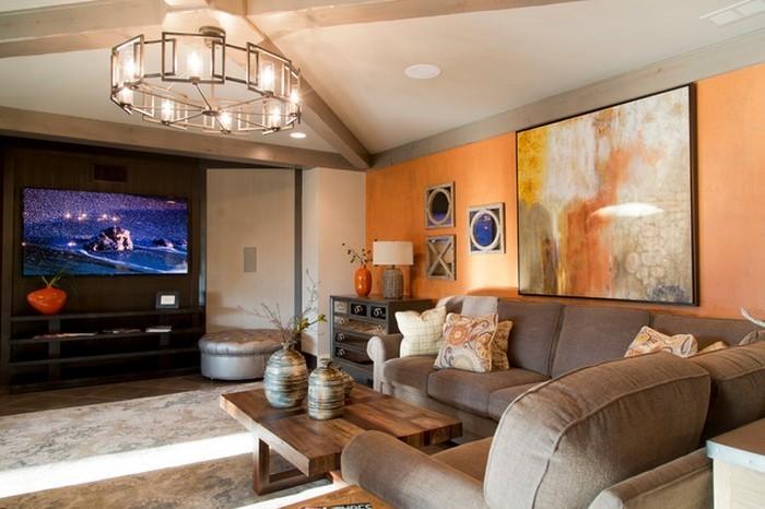 Farben-für-Wohnzimmer-in-Orange-Eine-kreative-Atmosphäre