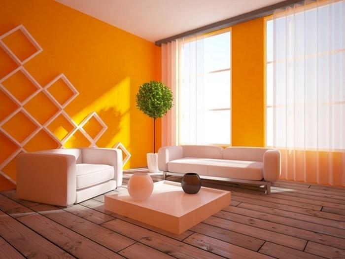 Farben f r wohnzimmer in orange 80 wohnideen for Zimmer farben