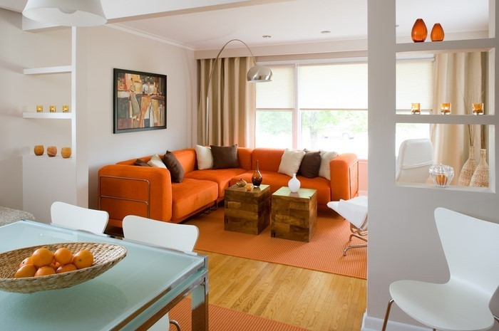 Farben-für-Wohnzimmer-in-Orange-Eine-kreative-Dekoration