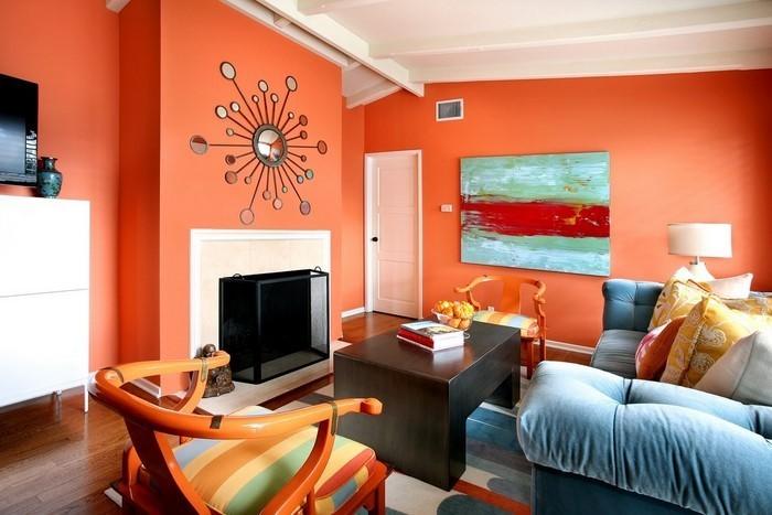 Farben-für-Wohnzimmer-in-Orange-Eine-moderne-Ausstrahlung