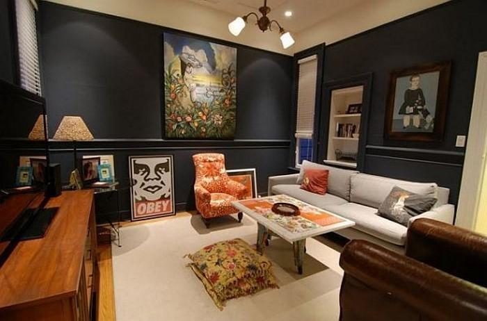 Farben-für-Wohnzimmer-in-Orange-Eine-moderne-Deko