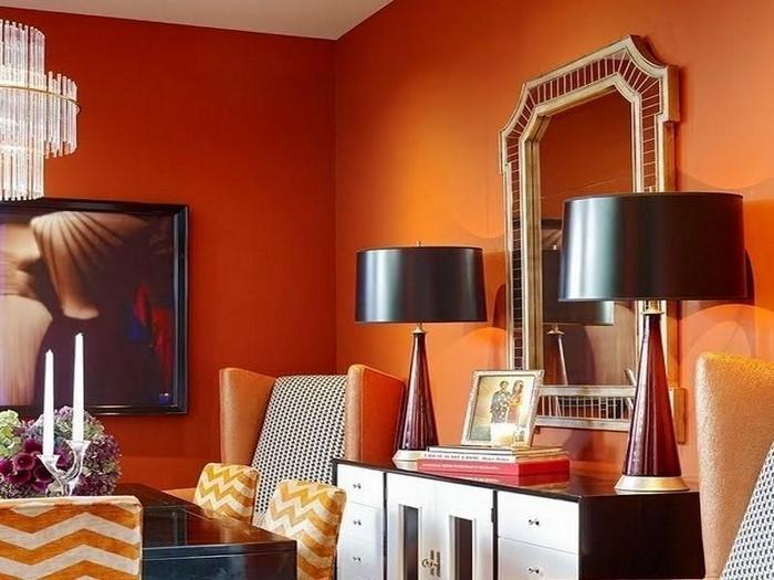 Farben-für-Wohnzimmer-in-Orange-Eine-moderne-Dekoration