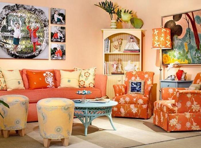 Farben-für-Wohnzimmer-in-Orange-Eine-moderne-Gestaltung