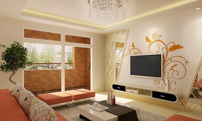 Farben-für-Wohnzimmer-in-Orange-Eine-super-Atmosphäre