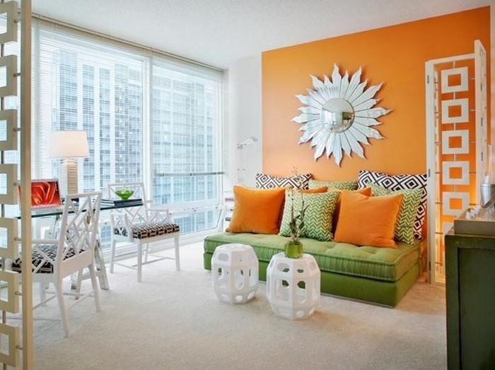Farben-für-Wohnzimmer-in-Orange-Eine-super-Dekoration