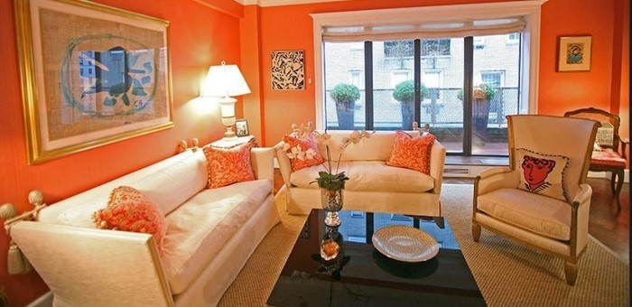 Farben-für-Wohnzimmer-in-Orange-Eine-tolle-Atmosphäre